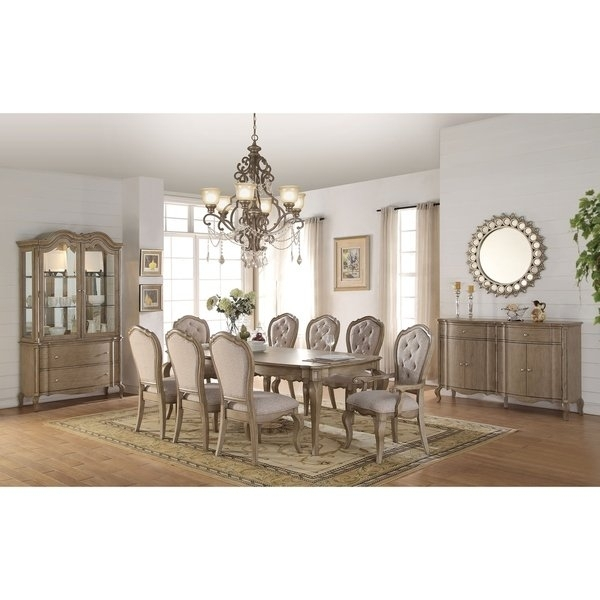 Shop Acme Chelmsford Dining Table, Antique Taupe – Free Shipping With Helms 7 Piece Rectangle Dining Sets With Side Chairs (View 8 of 25)