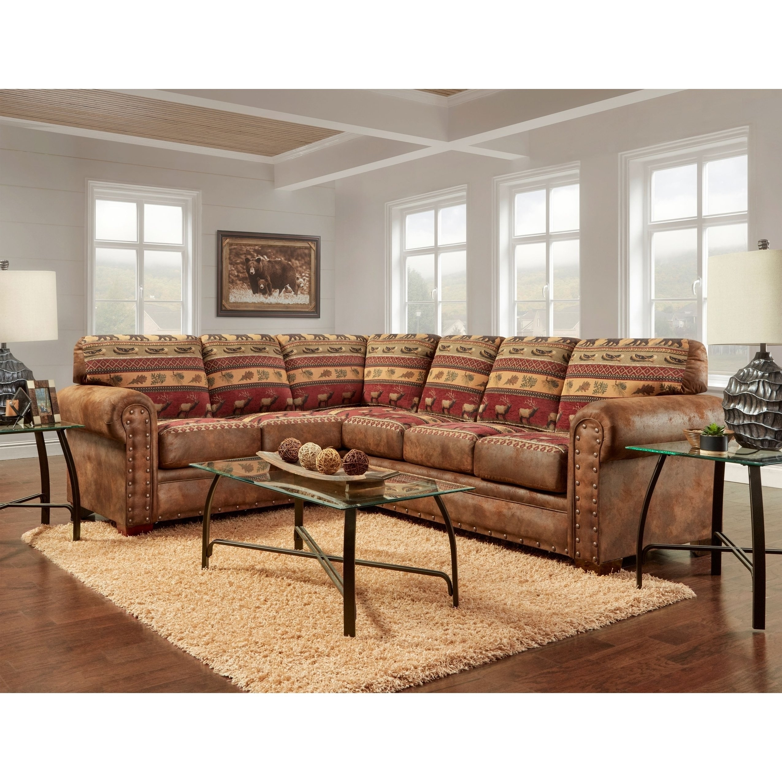 Shop American Furniture Classics Model B1650K Sierra Lodge Two Piece Pertaining To Sierra Foam Ii 3 Piece Sectionals (Image 22 of 25)