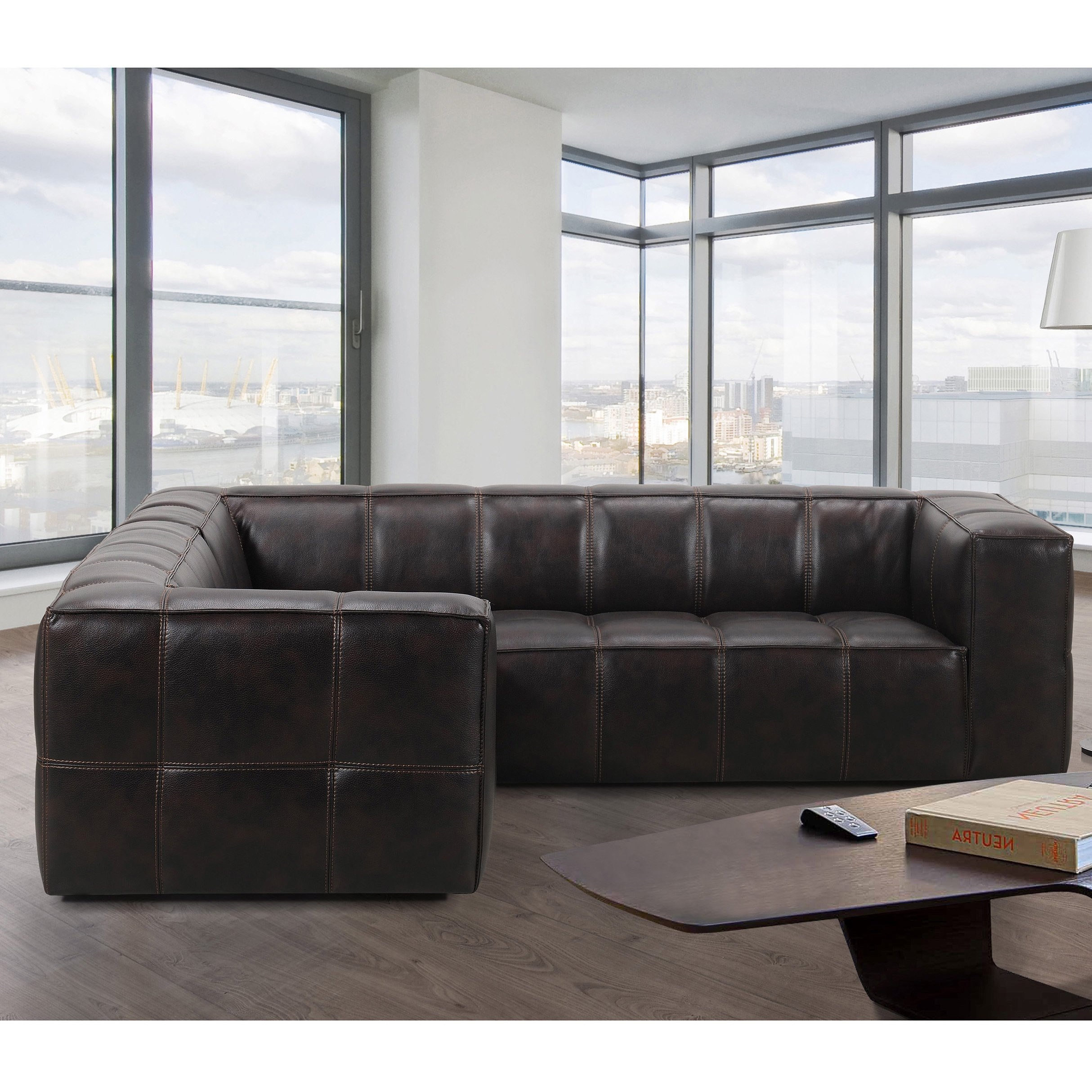 Shop Athens Memory Foam Sectional Sofa – Free Shipping Today Pertaining To Mesa Foam 2 Piece Sectionals (Image 20 of 25)
