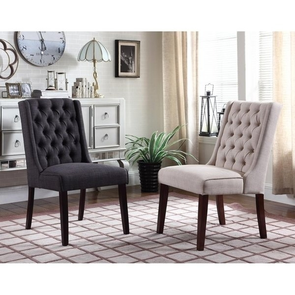 Shop Best Master Furniture Y782 Upholstered Side Chair (Set Of 2 With Caira Black 7 Piece Dining Sets With Upholstered Side Chairs (Image 20 of 25)