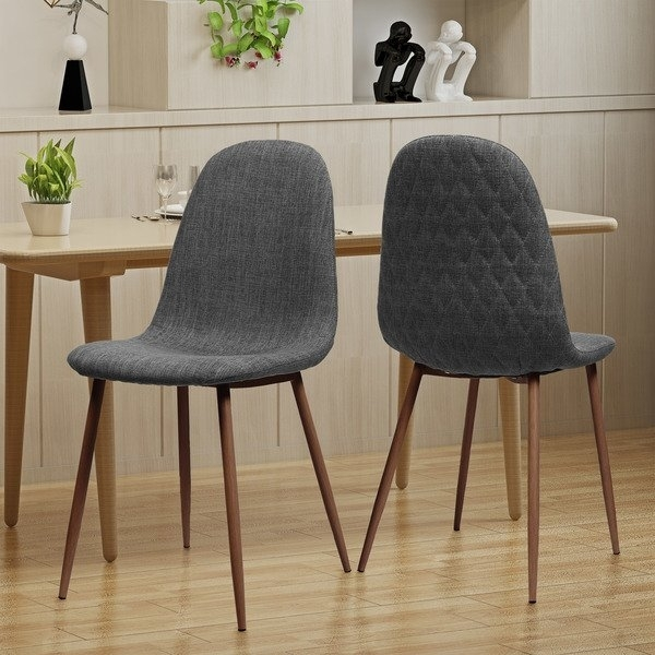 Shop Caden Mid Century Fabric Dining Chair (Set Of 2)Christopher Intended For Caden 7 Piece Dining Sets With Upholstered Side Chair (View 3 of 25)