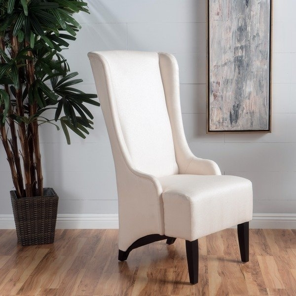 Shop Callie High Back Fabric Dining Chairchristopher Knight Home Pertaining To High Back Dining Chairs (View 9 of 25)