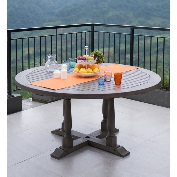 Shop Cambridge Casual Renley Round Dining Table – Weathered Grey Pertaining To Cambridge Dining Tables (Image 25 of 25)