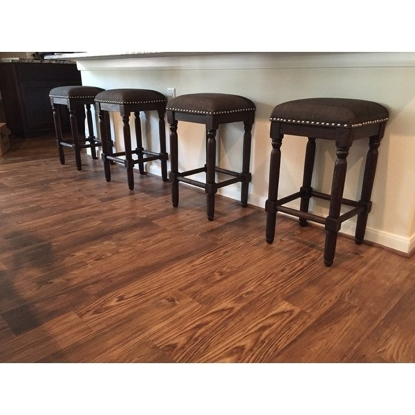 Shop Carbon Loft Branson Coffee Counter Stools (Set Of 2) – Free In Laurent 7 Piece Counter Sets With Wood Counterstools (Image 13 of 25)