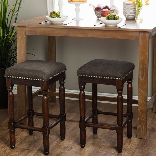 Shop Carbon Loft Branson Coffee Counter Stools (Set Of 2) – Free Intended For Laurent 7 Piece Counter Sets With Wood Counterstools (View 6 of 25)