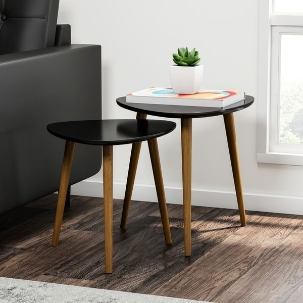 Shop Carson Carrington Odda Nesting End Table Set – On Sale – Free For Valencia 72 Inch Extension Trestle Dining Tables (View 14 of 25)