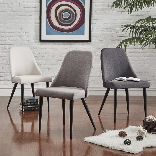 Shop Cecelia Espresso Wingback Dining Chair (Set Of 2)Inspire Q In Caden 6 Piece Dining Sets With Upholstered Side Chair (View 10 of 25)