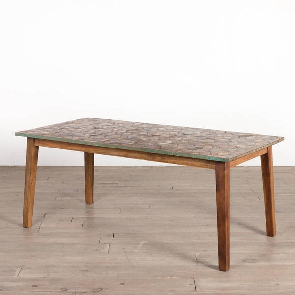 Shop Cg Sparks Handmade Parquet 6' Dining Table (India) – Free Inside Parquet 6 Piece Dining Sets (View 10 of 25)