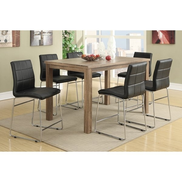 Shop Chandler 7 Piece Counter Height Dining Set – Free Shipping Intended For Chandler 7 Piece Extension Dining Sets With Fabric Side Chairs (Image 20 of 25)
