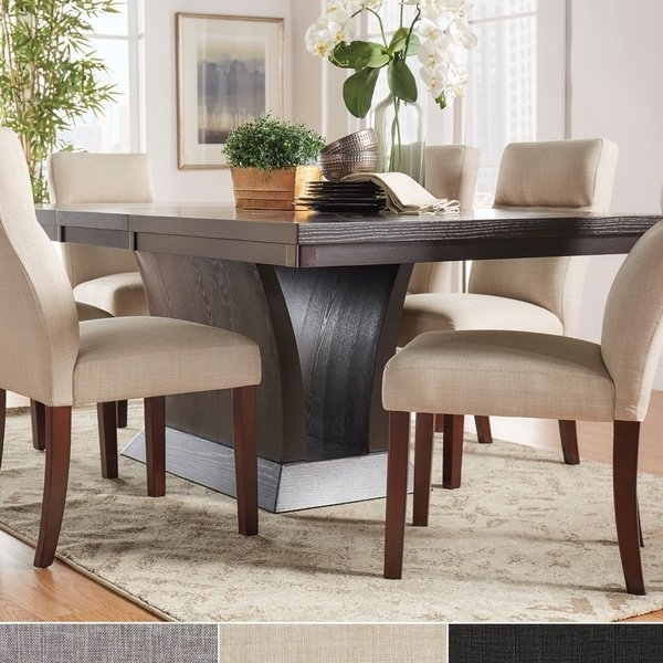 Shop Charles Espresso Contemporary Dining Setinspire Q Modern Inside Craftsman 7 Piece Rectangular Extension Dining Sets With Arm & Uph Side Chairs (Image 18 of 25)
