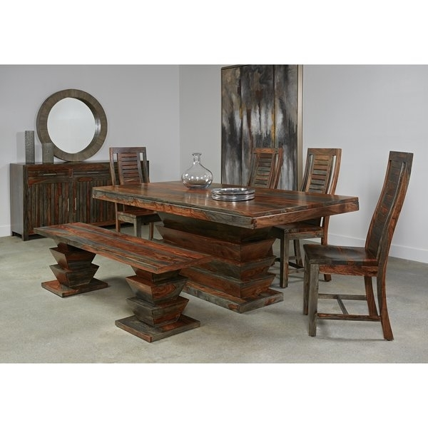 Shop Christopher Knight Home Olive Grey Sheesham Dining Table – Free Intended For Sheesham Dining Tables (Image 19 of 25)