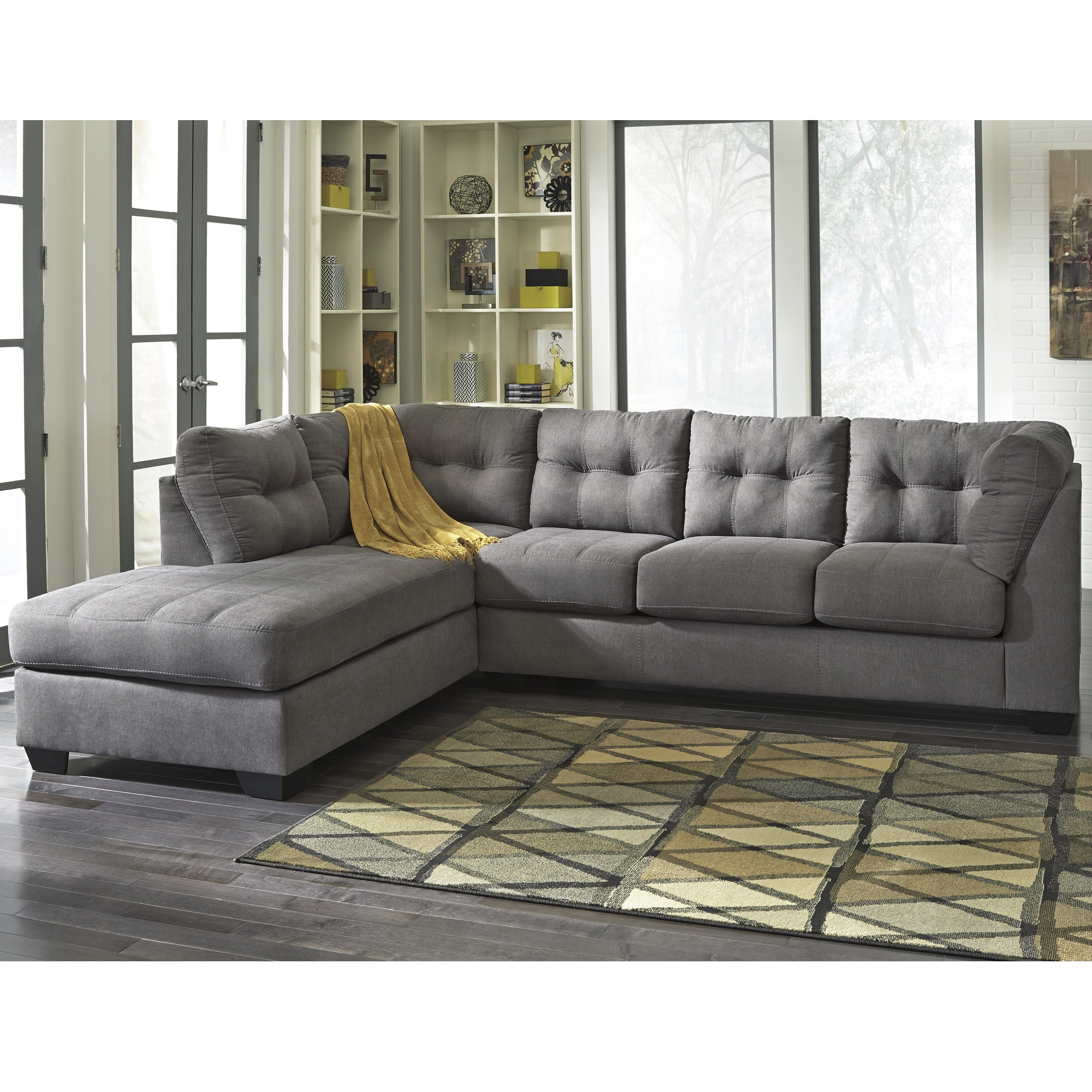 Shop Clay Alder Home Wells Microfiber Sectional With Left Side Inside Alder 4 Piece Sectionals (View 10 of 25)