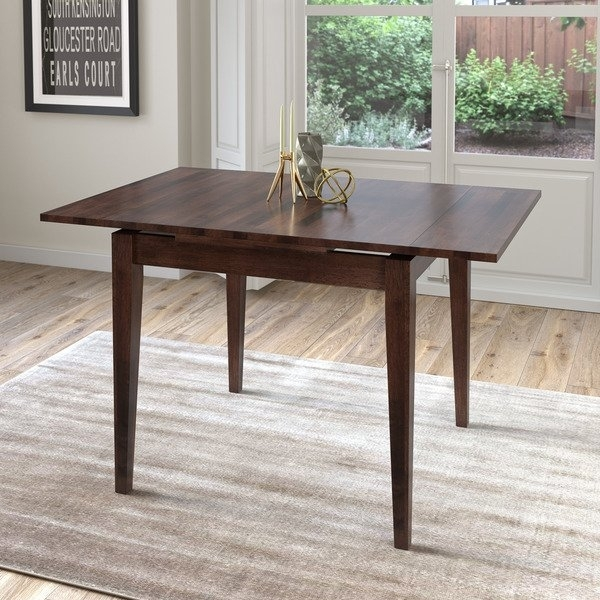Shop Corliving Cappuccino Extendable Square Dining Table – Free With Regard To Extendable Square Dining Tables (View 3 of 25)