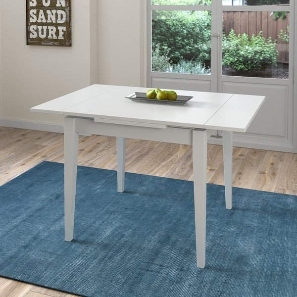 Shop Corliving White Extendable Square Dining Table – Free Shipping With Regard To Extendable Square Dining Tables (View 6 of 25)