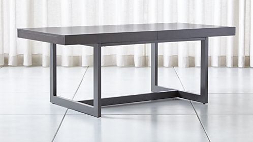 Shop Dining Room & Kitchen Tables | Crate And Barrel For Ina Matte Black 60 Inch Counter Tables With Frosted Glass (Image 19 of 25)