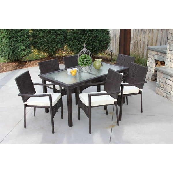 Shop Discontinued Baker All Weather Wicker/ Glass Outdoor Dining Pertaining To Wicker And Glass Dining Tables (Image 17 of 25)
