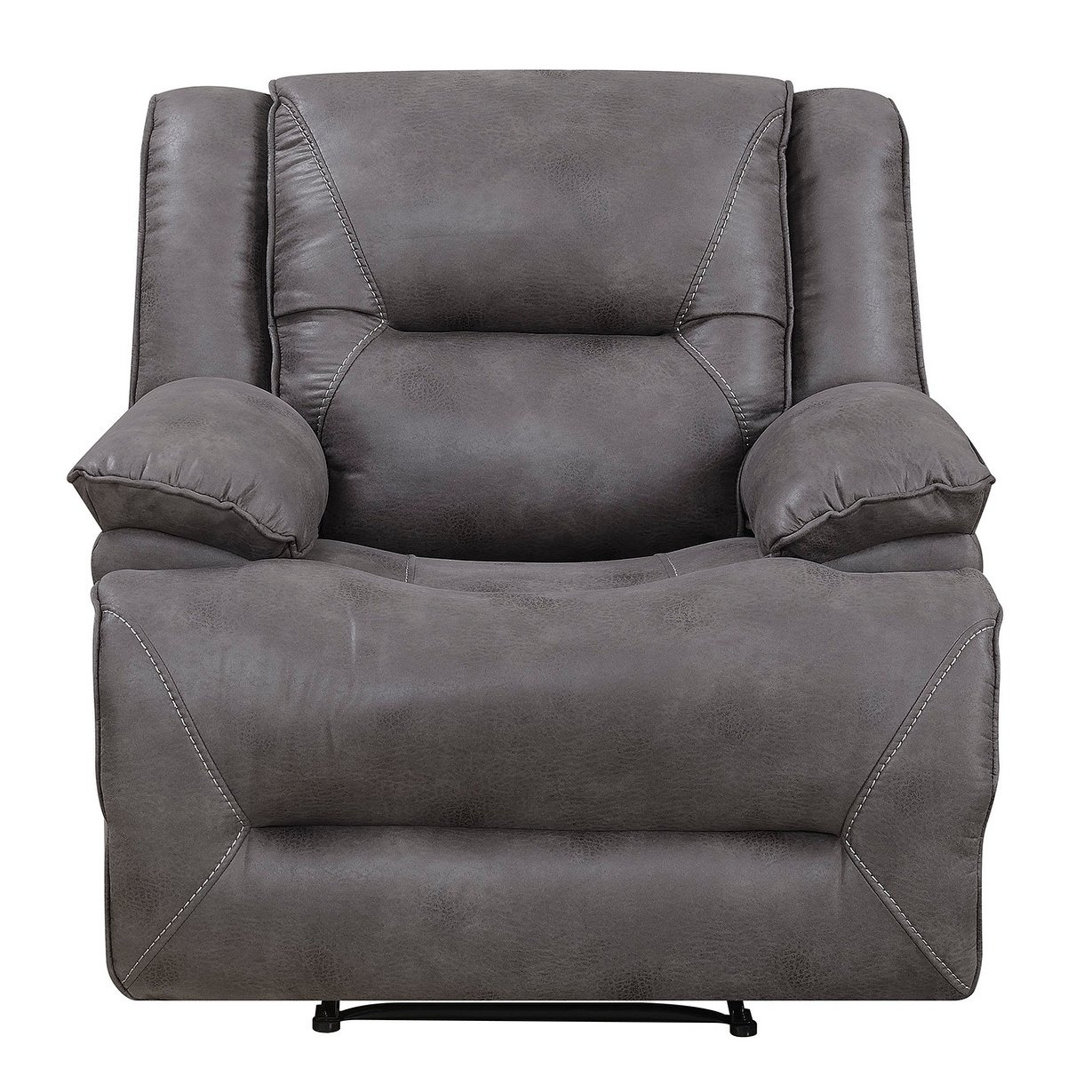 Shop Dylan Power Recliner With Memory Foam Seat Topper And Usb Within Travis Dk Grey Leather 6 Piece Power Reclining Sectionals With Power Headrest & Usb (View 12 of 25)