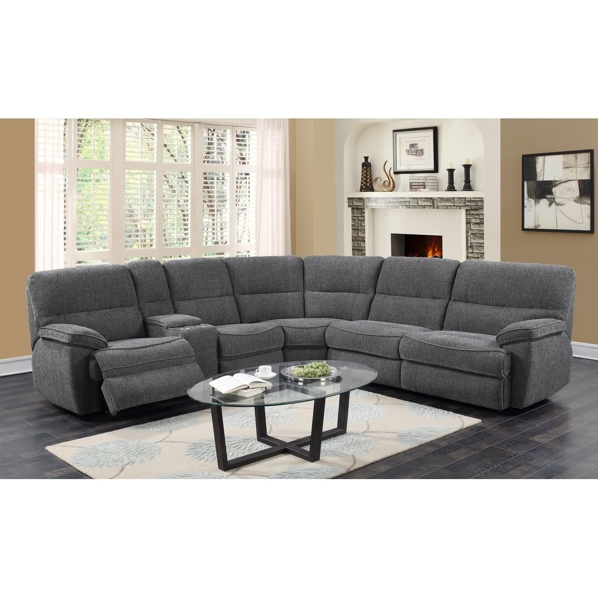 Shop Emerald Home Aurora Platinum 3 Piece Sleeper Sectional – Free Within Aurora 2 Piece Sectionals (View 5 of 25)