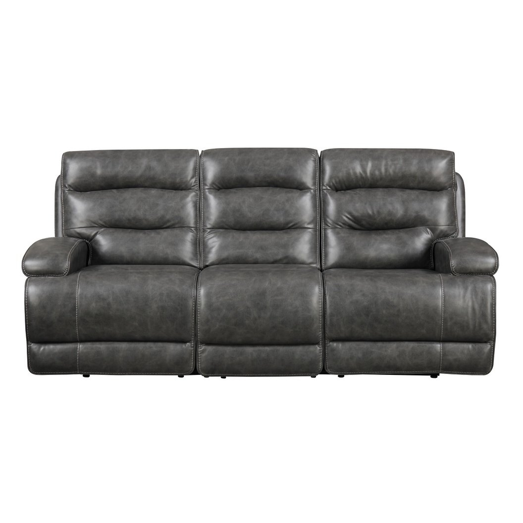 Shop Emerald Home Burton Grey Power Motion Sofa – Free Shipping Throughout Burton Leather 3 Piece Sectionals (Image 22 of 25)