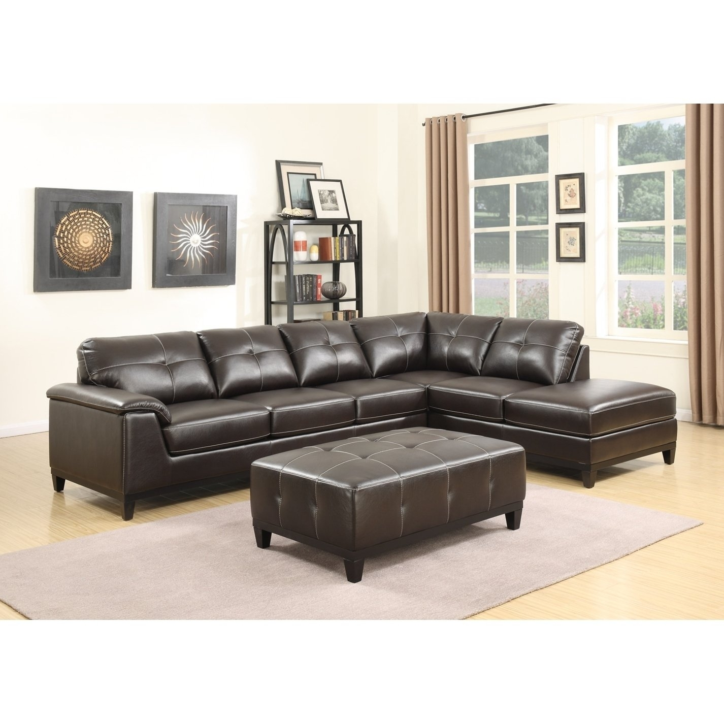 Shop Emerald Home Marquis 3 Piece Sectional With 6 Seats – Free For Haven Blue Steel 3 Piece Sectionals (Image 24 of 25)