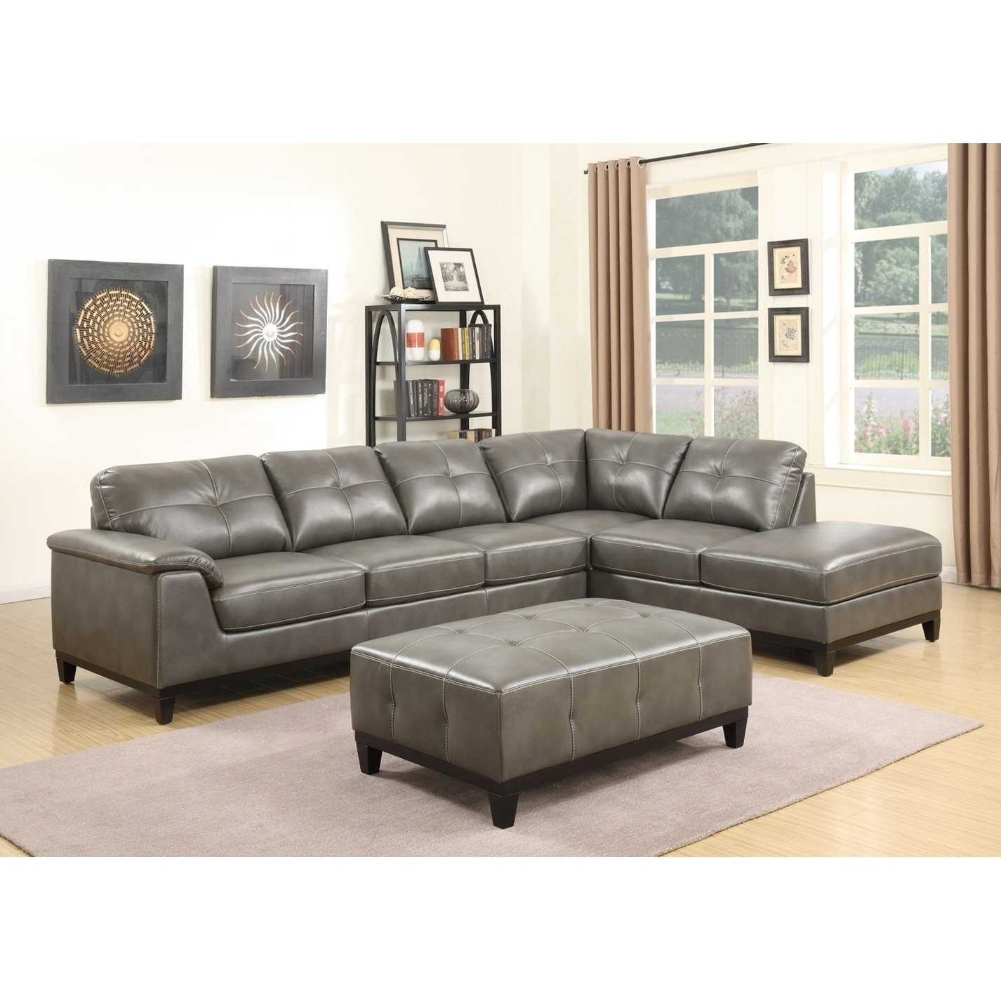 Shop Emerald Home Marquis 3 Piece Sectional With 6 Seats – Free Within Haven 3 Piece Sectionals (Image 23 of 25)