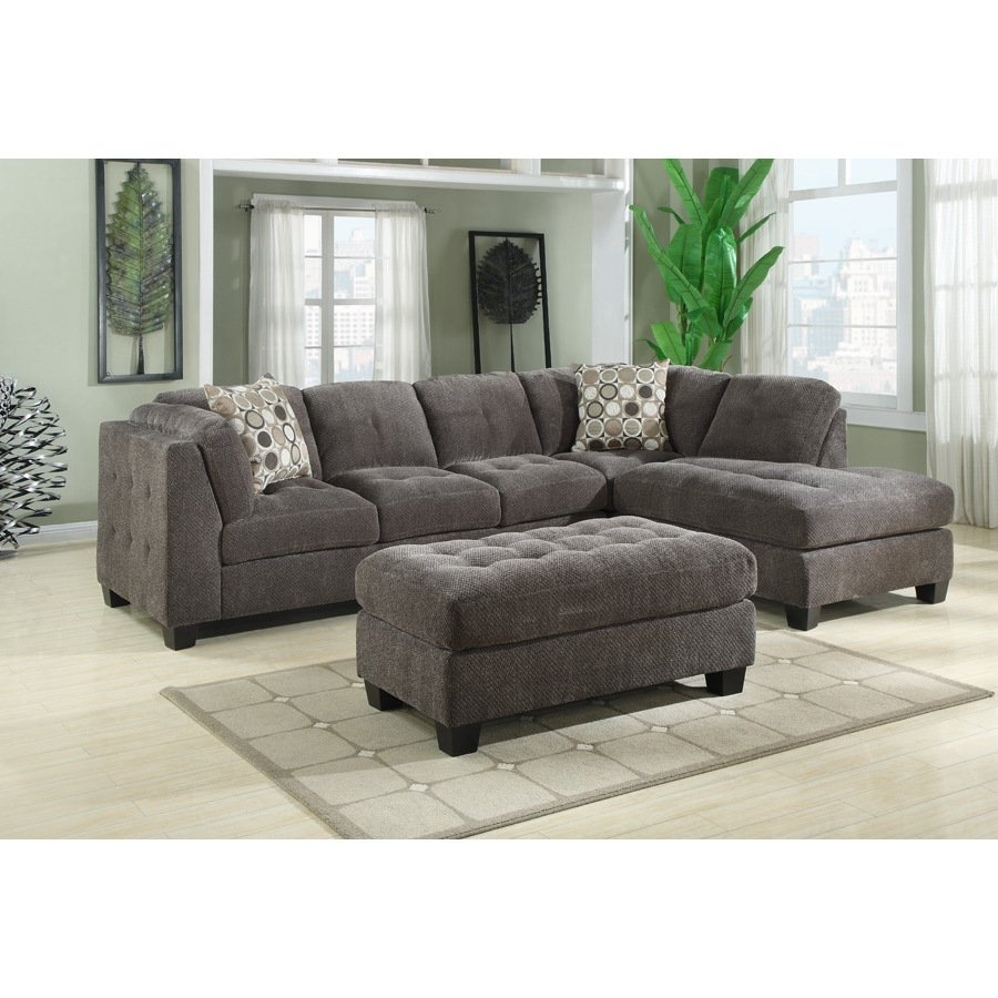 Shop Emerald Trinton Pewter 2Pc Sectional Sofa – Free Shipping Today In Karen 3 Piece Sectionals (View 25 of 25)