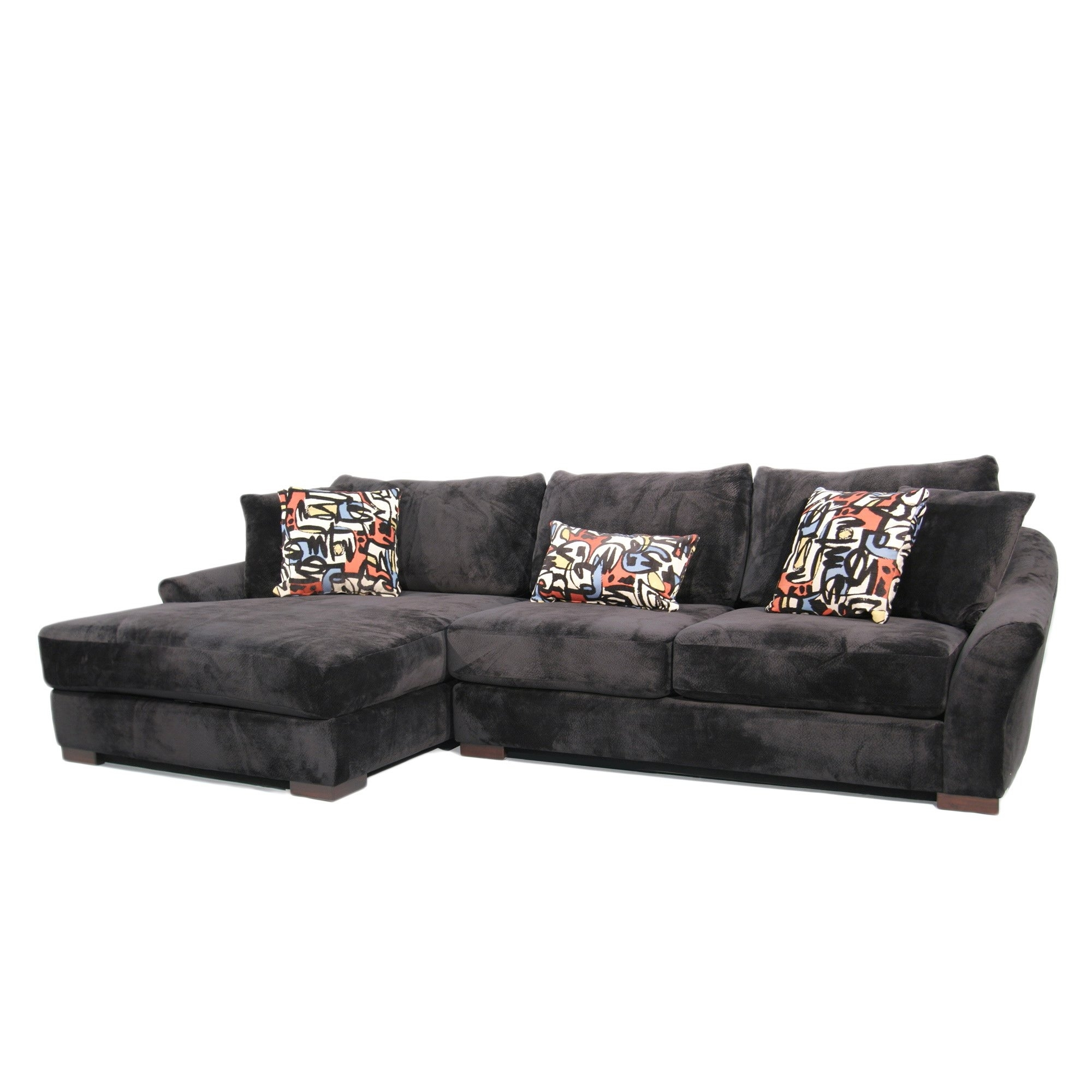 Shop Fairmont Designs Made To Order Audrey 3 Piece Ebony Sectional With Harper Foam 3 Piece Sectionals With Raf Chaise (View 21 of 25)