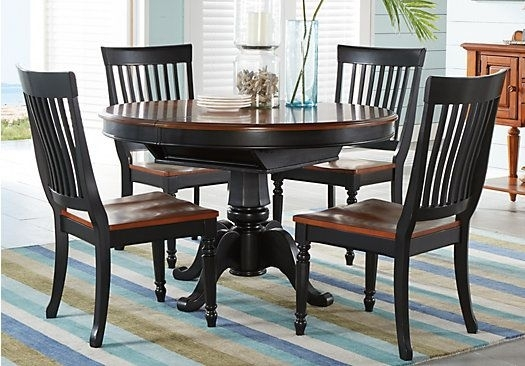 Shop For A Cindy Crawford Home Ocean Grove Black 5 Pc Dining Room W Within Crawford 7 Piece Rectangle Dining Sets (View 4 of 25)
