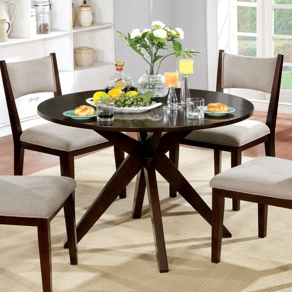 Shop Furniture Of America Kiara Mid Century Modern Brown Cherry Wood Pertaining To 87 Inch Dining Tables (Image 21 of 25)