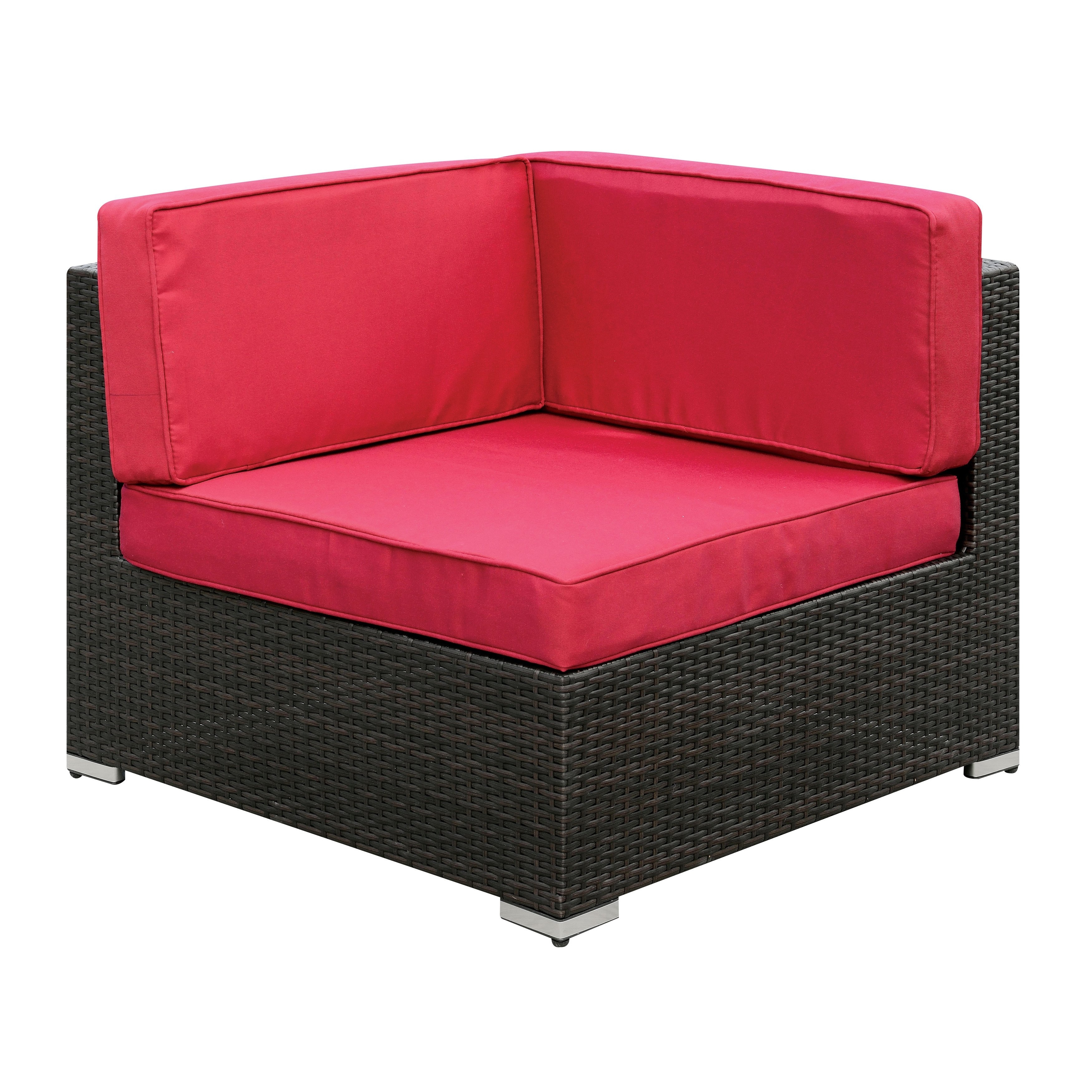 Shop Furniture Of America Marisa Contemporary 2 Piece Wicker Pertaining To Marissa Ii 3 Piece Sectionals (Image 15 of 25)