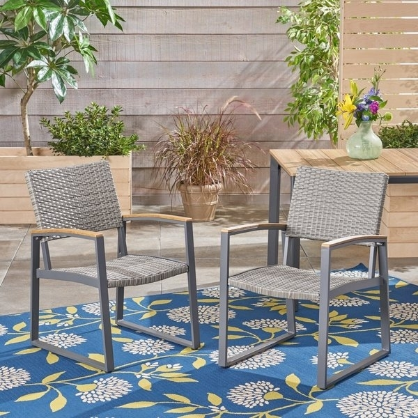 Shop Glasgow Outdoor Dining Chairs With Aluminum Frame (Set Of 2) Within Glasgow Dining Sets (Image 23 of 25)