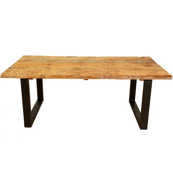 Shop Handmade Wanderloot Distressed Paint Mango And Reclaimed Wood With Portland 78 Inch Dining Tables (Image 22 of 25)