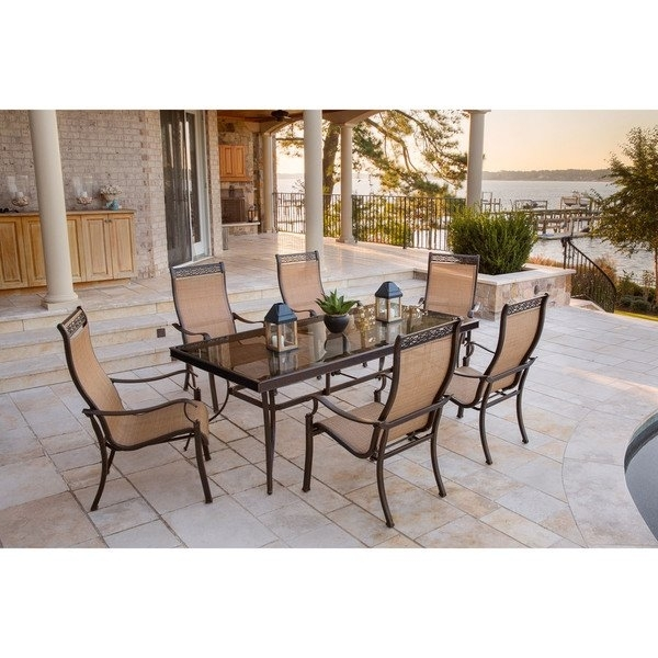 Shop Hanover Monaco 7 Piece Dining Set With Six Sling Back Dining With Regard To Monaco Dining Sets (View 10 of 25)