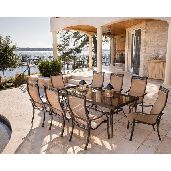 Shop Hanover Monaco 9 Piece Dining Set With 8 Stationary Dining With Monaco Dining Sets (Image 21 of 25)