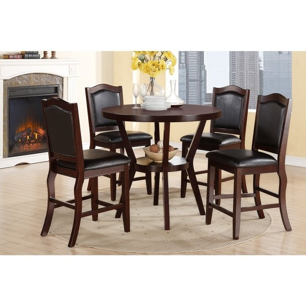 Shop Hanz Tuly 5 Piece Round Dining Set – Free Shipping Today Throughout Caden 6 Piece Dining Sets With Upholstered Side Chair (View 12 of 25)