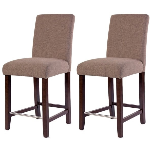 Shop Harper Collection Beige Counter Stool (Set Of 2) – Free Pertaining To Harper 5 Piece Counter Sets (View 6 of 25)