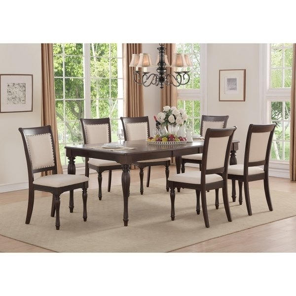 Shop Home Source Penelope Ivory 5 Piece Dining Set With 1 Table And Throughout Caden 6 Piece Rectangle Dining Sets (Image 18 of 25)