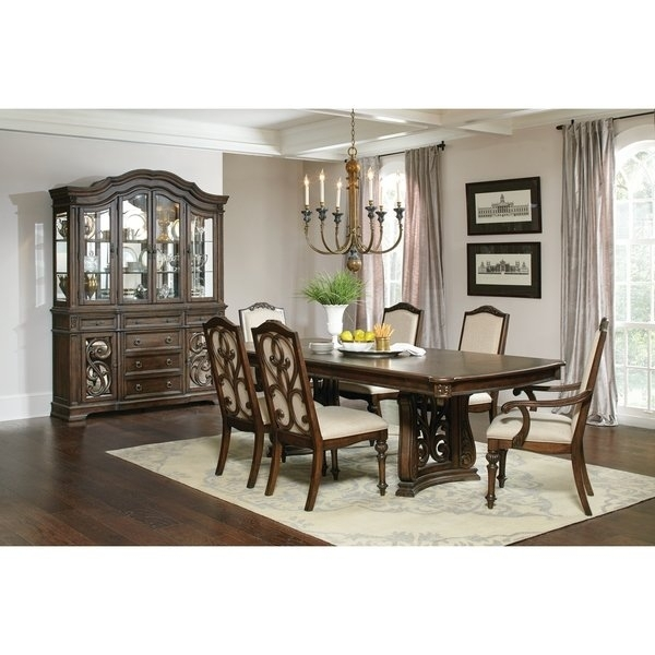 Shop Ilana Traditional Antique Java Formal Dining Table – Brown – On Regarding Java Dining Tables (Image 21 of 25)