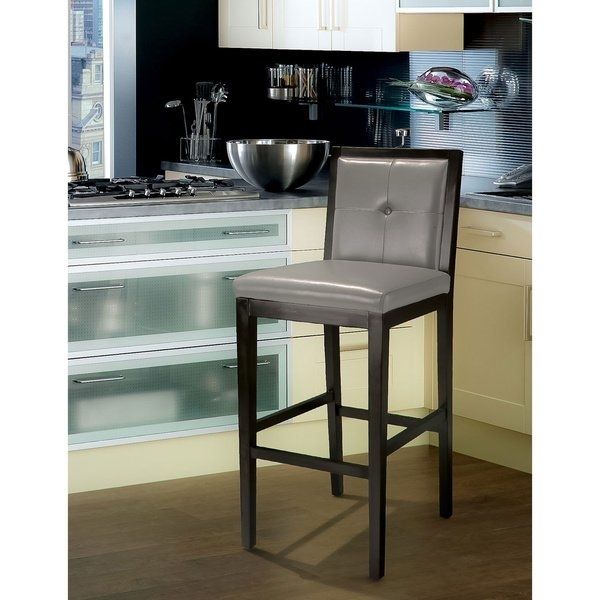 Shop Jameson Grey Leather Bar Stoolchristopher Knight Home Pertaining To Jameson Grey 5 Piece Counter Sets (Image 22 of 25)