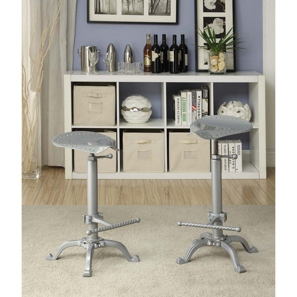 Shop Jameson Motorcycle Adjustable Bar Stool – Free Shipping Today Intended For Jameson Grey 5 Piece Counter Sets (View 22 of 25)