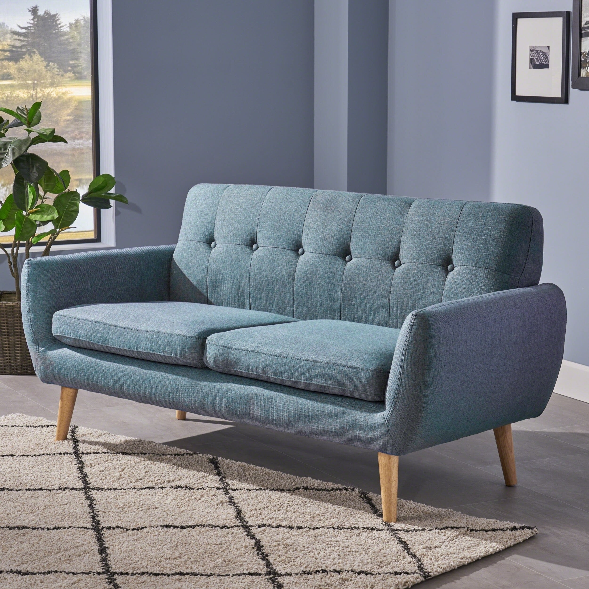 Shop Josephine Mid Century Modern Petite Fabric Sofachristopher Throughout Josephine 2 Piece Sectionals With Raf Sofa (Image 23 of 25)