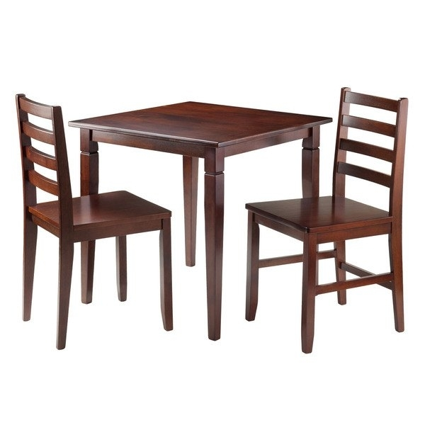 Shop Kingsgate 3 Pc Dining Table With 2 Hamilton Ladder Back Chairs Within Hamilton Dining Tables (Image 23 of 25)