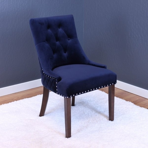 Shop Lemele Tufted Velvet Dining Chairs (Set Of 2) – On Sale – Free Regarding Velvet Dining Chairs (Image 23 of 25)