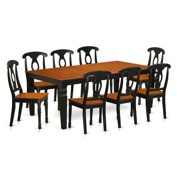 Shop Lgke9 Bch 9 Piece Table And Chair Set With One Logan Dining Intended For Logan Dining Tables (Image 18 of 25)