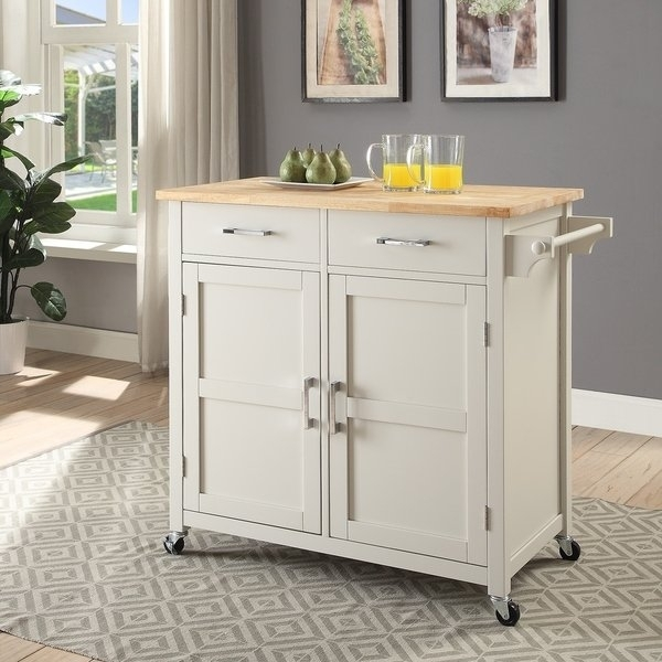 Shop Macie Small Kitchen Cart – On Sale – Free Shipping Today Inside Macie Round Dining Tables (Image 21 of 25)