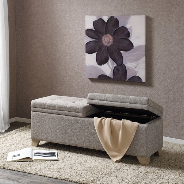 Shop Madison Park Jaxon Grey Multi Storage Bench – Free Shipping With Jaxon 6 Piece Rectangle Dining Sets With Bench & Uph Chairs (View 12 of 25)