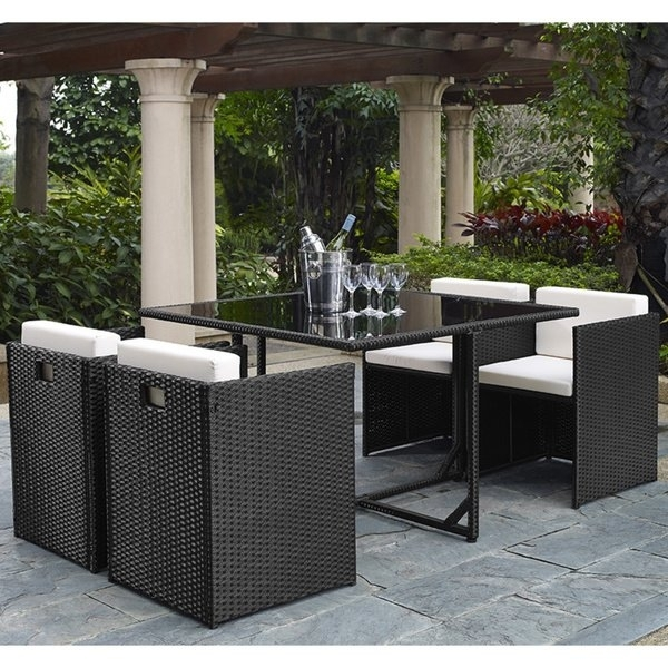 Shop Marbella 5 Piece Outdoor Dining Set – Free Shipping Today In Marbella Dining Tables (Image 24 of 25)