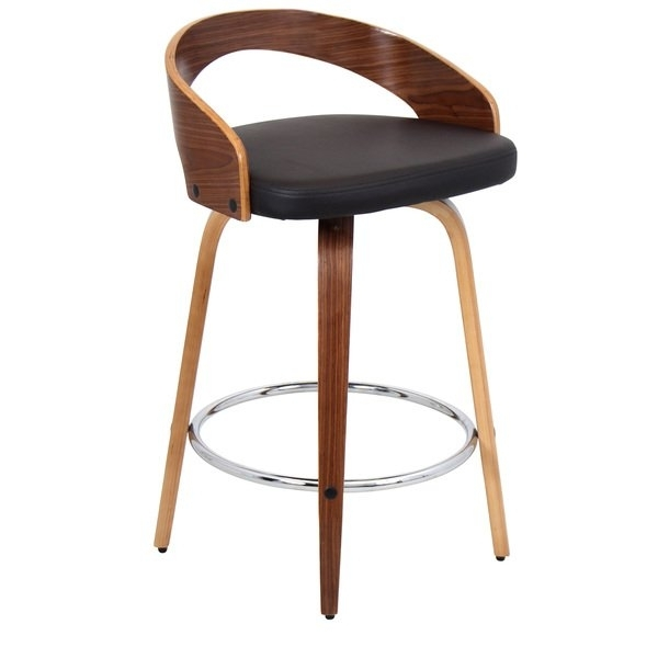 Shop Palm Canyon Valencia Faux Leather Mid Century Modern Counter With Regard To Valencia 4 Piece Counter Sets With Bench & Counterstool (Image 18 of 25)