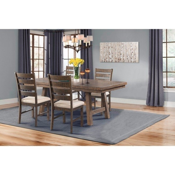 Shop Picket House Furnishings Dex 5Pc Dining Set Table, 4 Ladder Within Caden 7 Piece Dining Sets With Upholstered Side Chair (View 7 of 25)