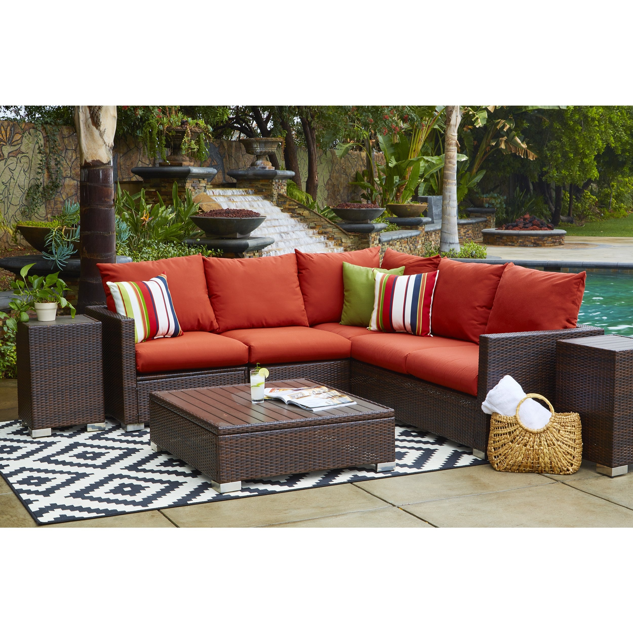 Shop Portfolio Aldrich Indoor/outdoor 3 Piece Sectional Set With With Regard To Karen 3 Piece Sectionals (View 10 of 25)